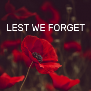 ANZAC lest we forget